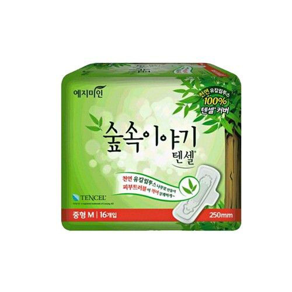 韓國 禮知美人 - 天絲衛生棉日用 (25cm)-16片/包