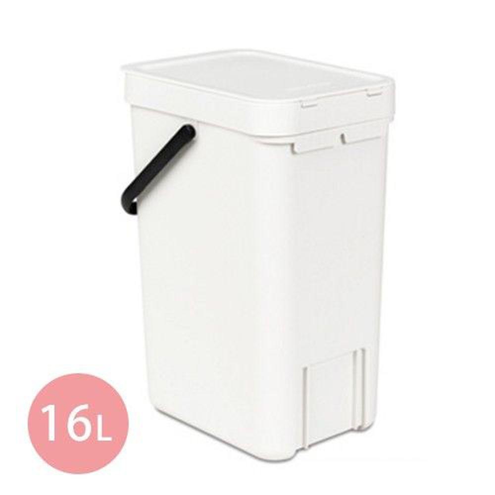 荷蘭 Brabantia - 多功能餐廚置物桶-白(16L)