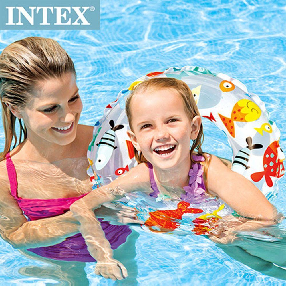 INTEX - 海底世界游泳圈直徑51cm(圖案隨機)