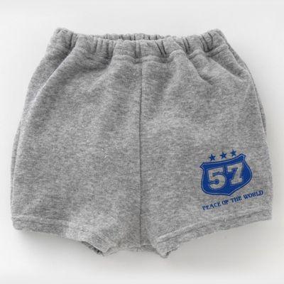 日本製美式印花四層學習短褲-灰 (100cm)