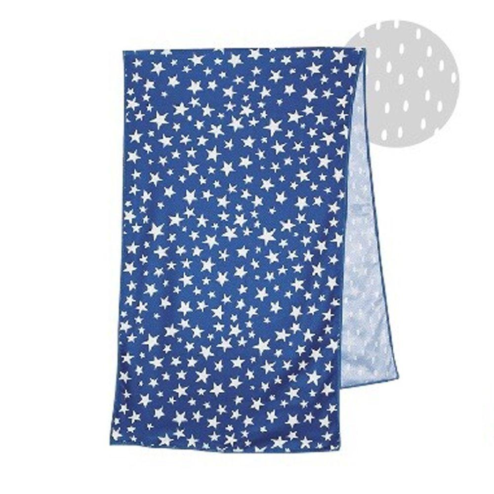 日本現代百貨 - 抗UV水涼感巾(附收納罐)-星星-深藍 (30x100cm)