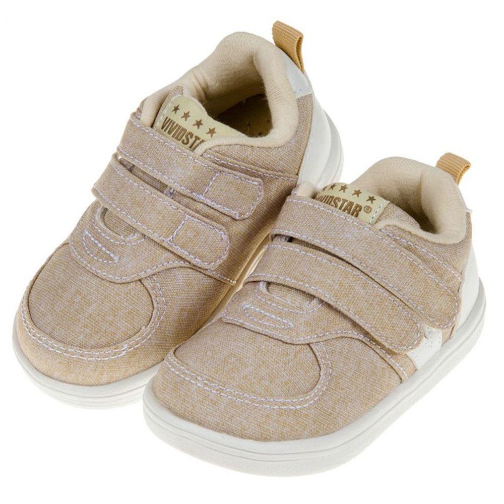 BABYVIEW - BABYVIEW經典百搭米色帆布機能寶寶學步鞋