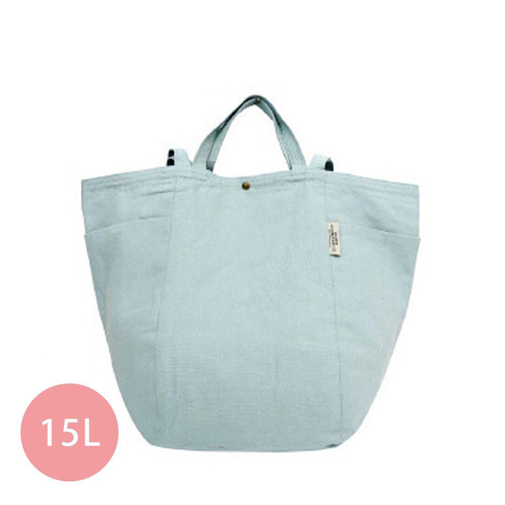 日本 Chepeli - 純棉 簡約2way大容量肩背包/手提袋-83. 灰藍 (34x46x26cm)-15L