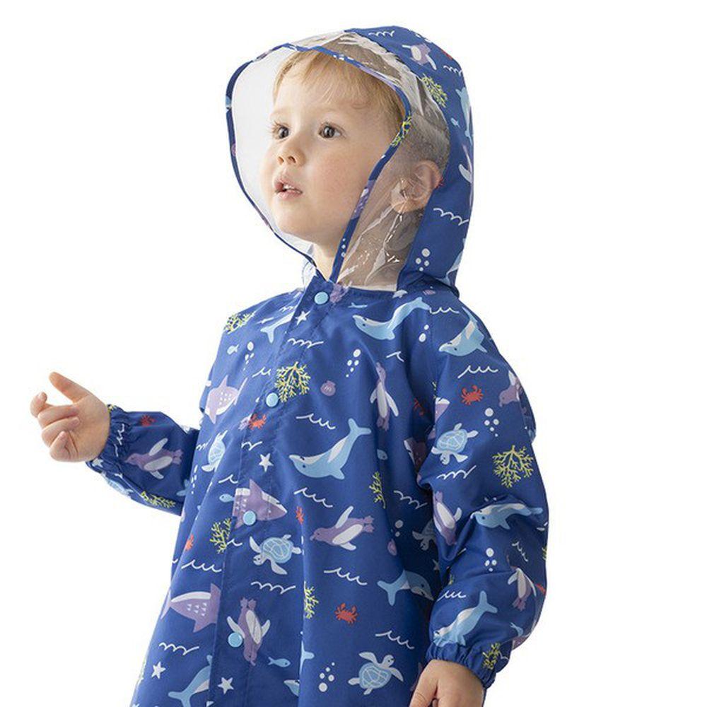 akachan honpo - 雨衣-海洋生物-藍色