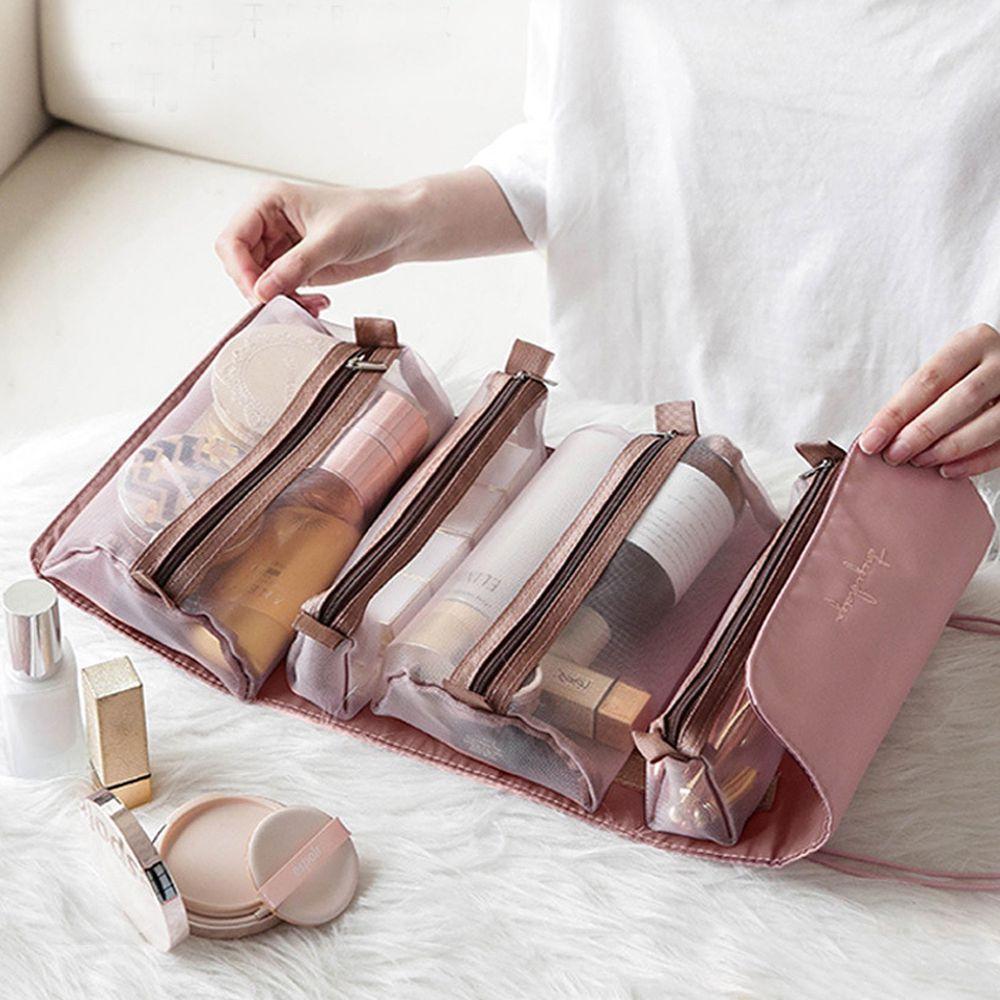 4in1萬用折疊化妝包(微瑕疵)-落櫻粉