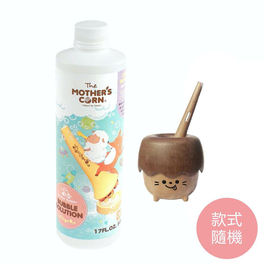 韓國 Mother's Corn - 【新品】小木森林兒童泡泡玩具(款式隨機)+超多泡泡補充罐500ml