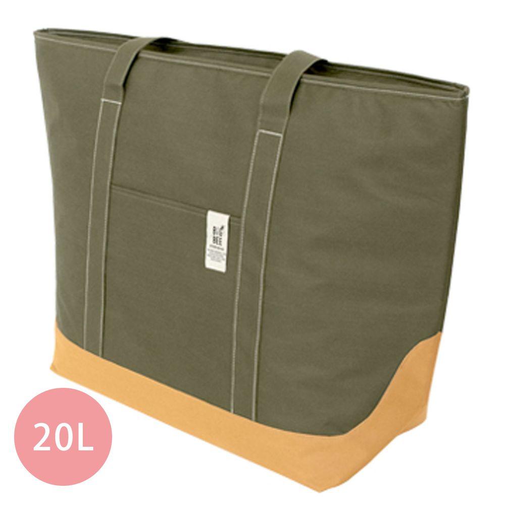 日本 Big Bee - 保冷機能肩背包/購物袋-墨綠 (L(63x60cm))-20L