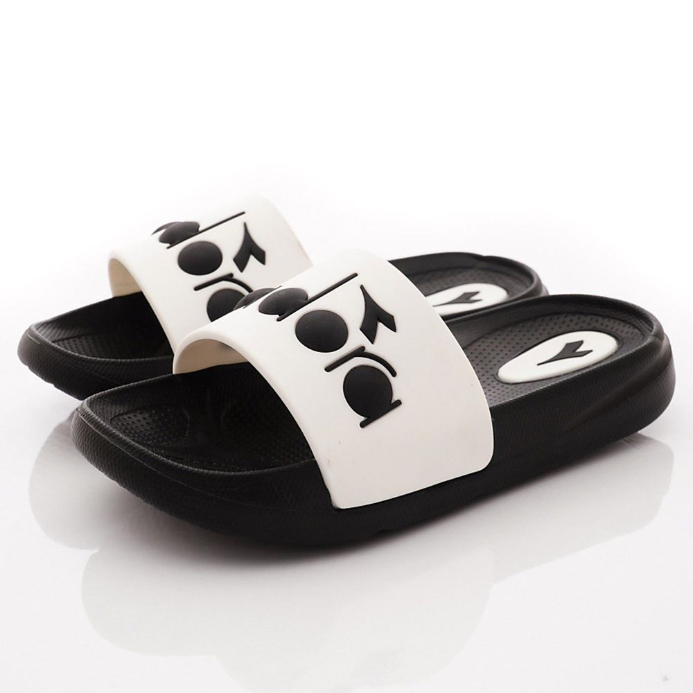 DIADORA - 輕量LOGO涼鞋/拖鞋(中小童段)-黑