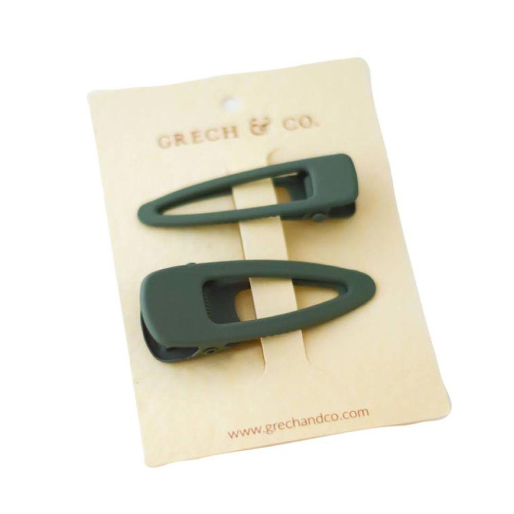 丹麥GRECH&CO - 髮夾二入組-蕨青