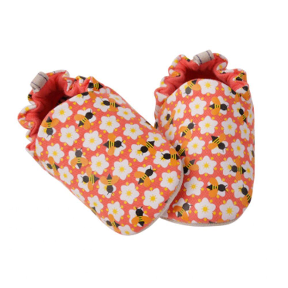 英國 Poconido - 寶寶手工鞋/學步鞋-蜜蜂與小花