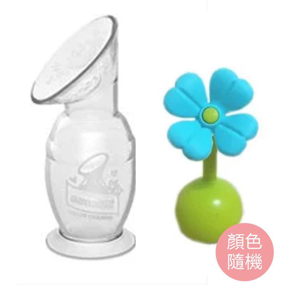 紐西蘭 HaaKaa - 第二代真空吸力集乳器-新手媽媽簡配組(限定花色組合)-150mLx1+小花瓶塞(櫻花粉或Tiffany藍 隨機出貨)x1