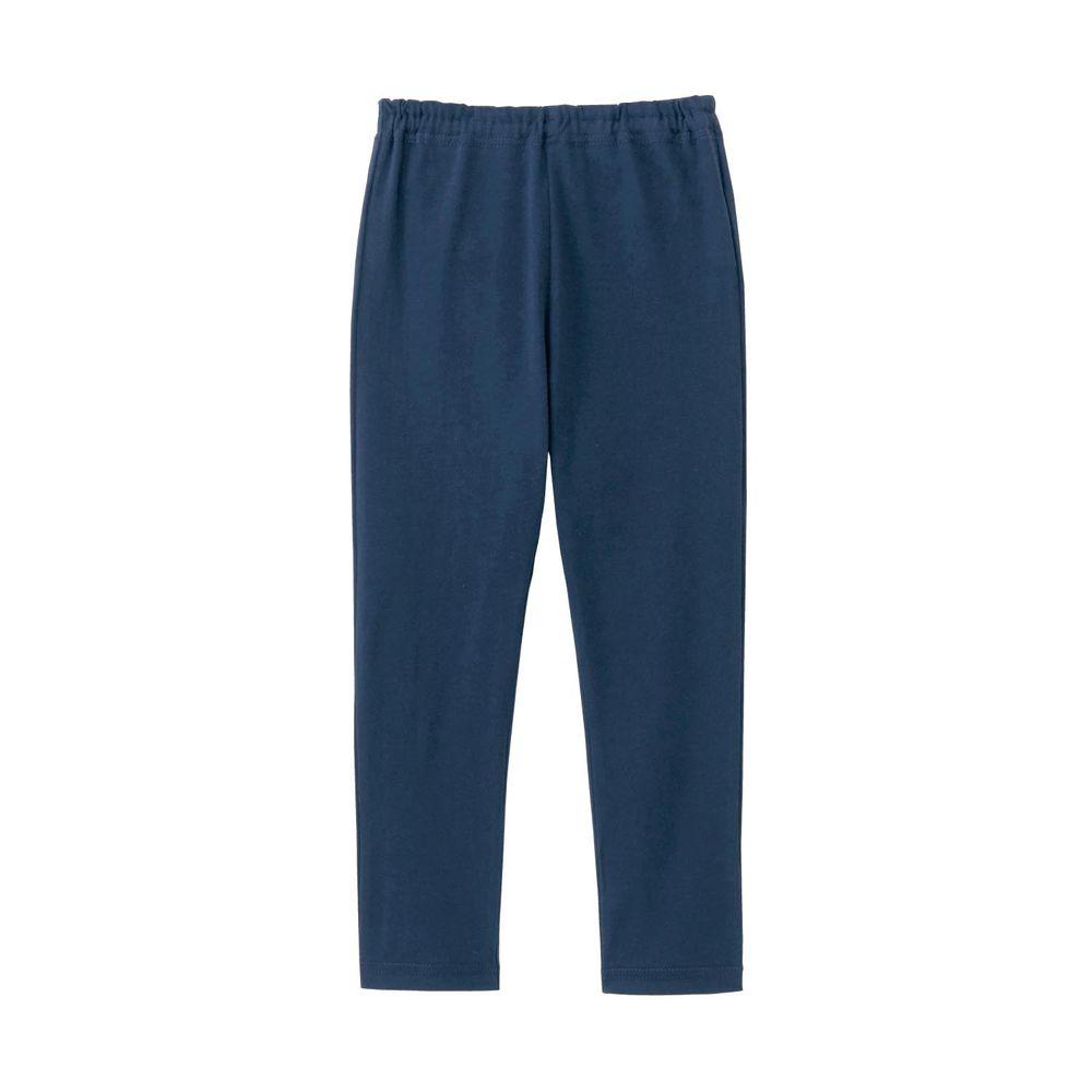 日本千趣會 - GITA 超彈力純棉10分內搭褲-深藍