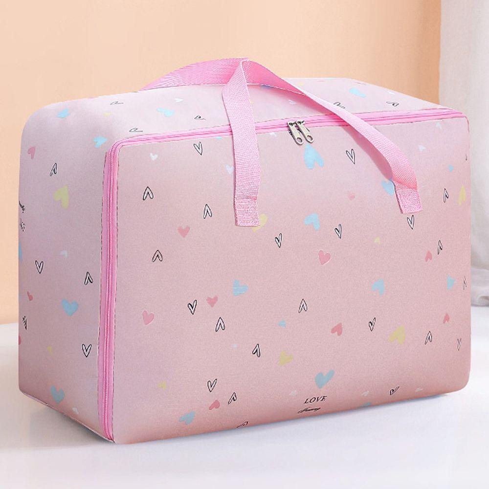 棉被收納提袋-粉色愛心