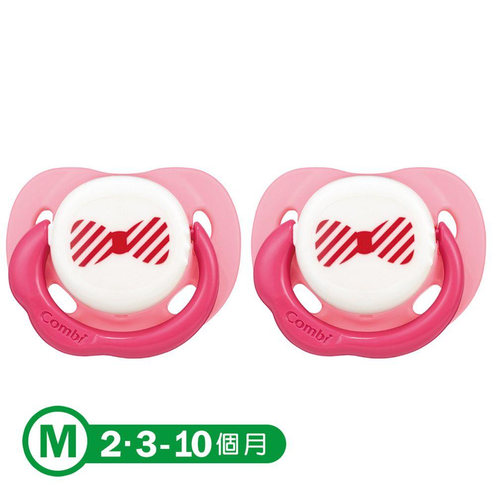 日本 Combi - Smile 微笑安撫奶嘴(2入)-微笑粉x2 (M)