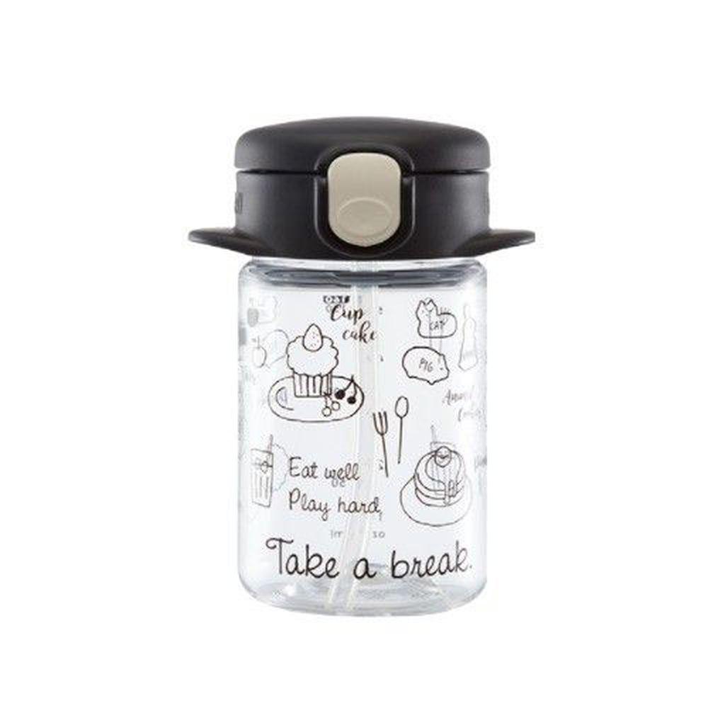日本 Richell 利其爾 - aqulea Slim mug Tritan 水杯-兒童水壺-俏皮甜點-黑色-160ml