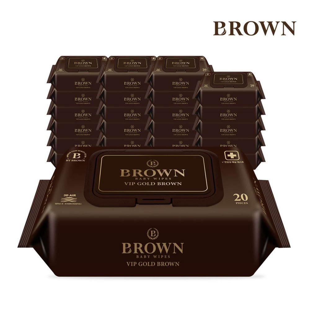 韓國BROWN - VIP GOLD BROWN 濕紙巾-可可果20抽(含蓋)*24包