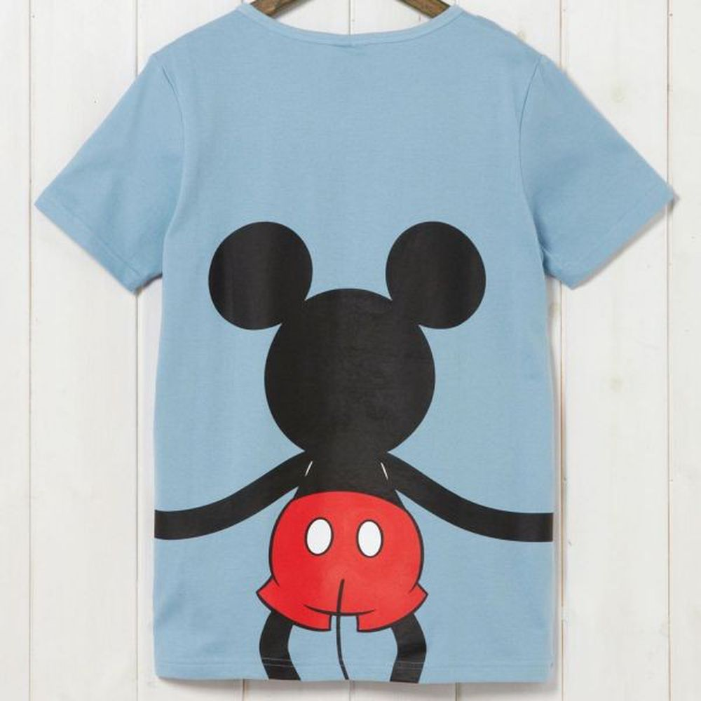 日本千趣會 - 米奇抱抱純棉短袖T恤-爸爸-藍 (3L)