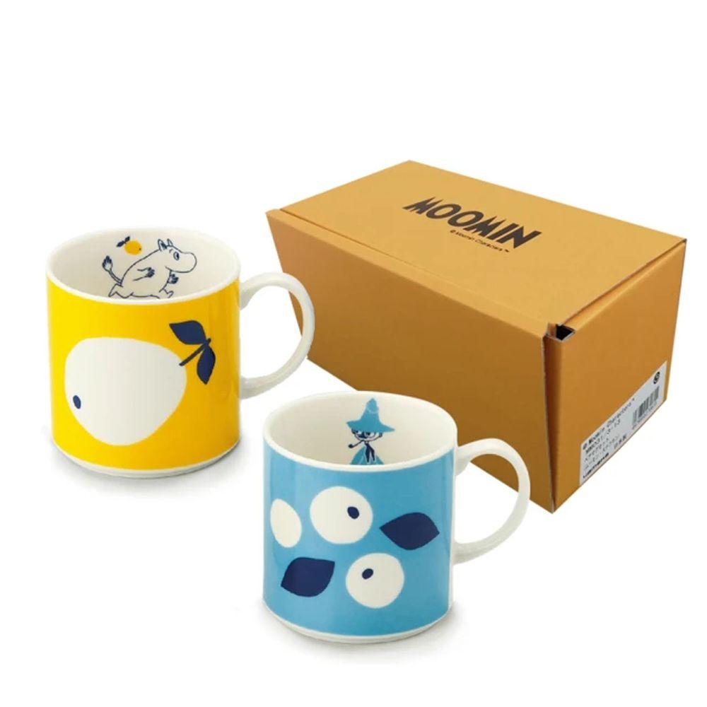 日本山加 yamaka - moomin 嚕嚕米彩繪陶瓷馬克杯禮盒-MM0313-13-2入組