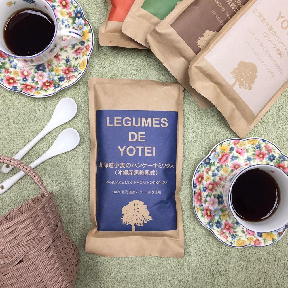日本LEGUMES DE YOTEI - 北海道產天然鬆餅粉-沖繩黑糖-效期到2021.06.02-180g