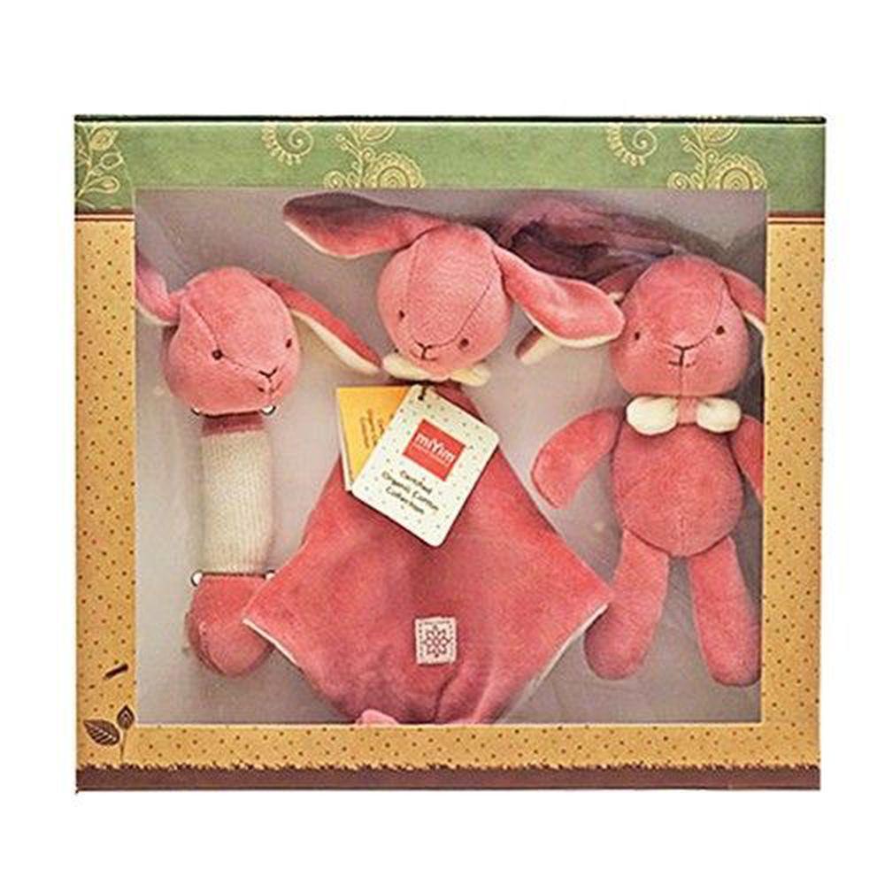 miYim - 安撫玩具禮盒 (手搖鈴+安撫巾+吊掛娃娃)-邦妮兔兔