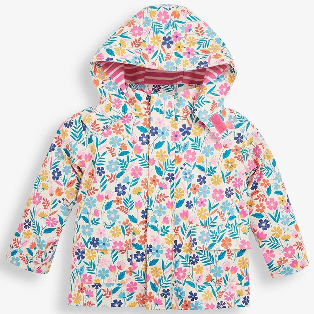 英國 JoJo Maman BeBe - 三合一多功能防水保暖外套-繽紛花卉