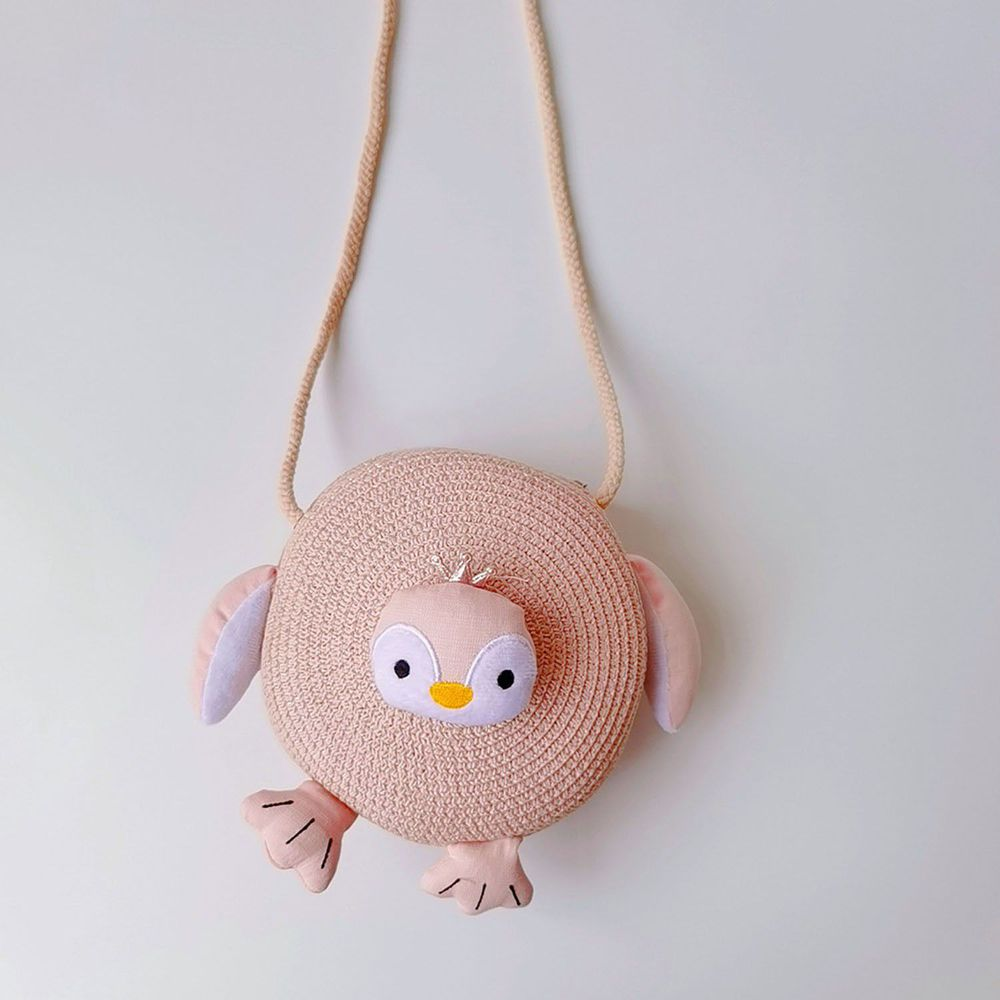 兒童造型編織包-粉色 (17x17cm)