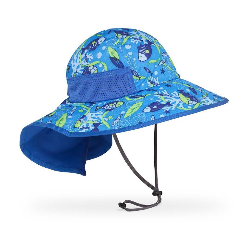 Sunday Afternoons - 兒童防曬帽-兒童抗UV防潑透氣護頸帽Kids Play Hat-水藍