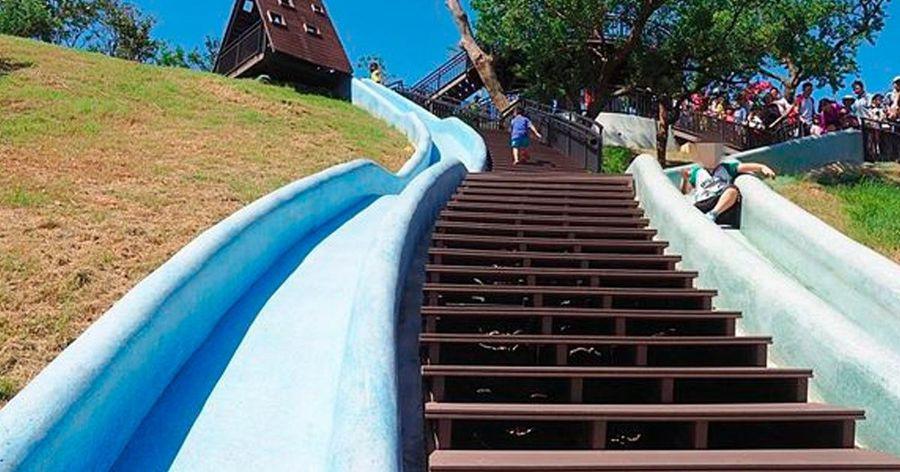【新竹親子旅遊】青青草原溜滑梯!號稱北台灣最長彩虹
