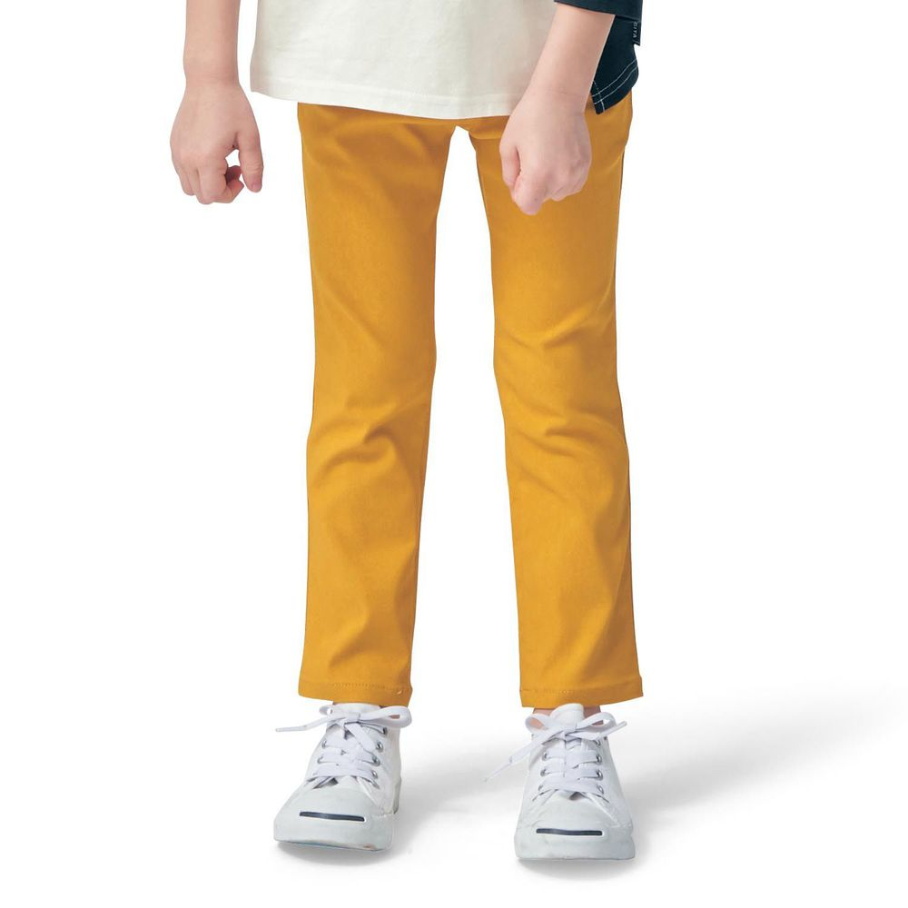 日本千趣會 - GITA 高彈性好動直筒口袋長褲-芥末