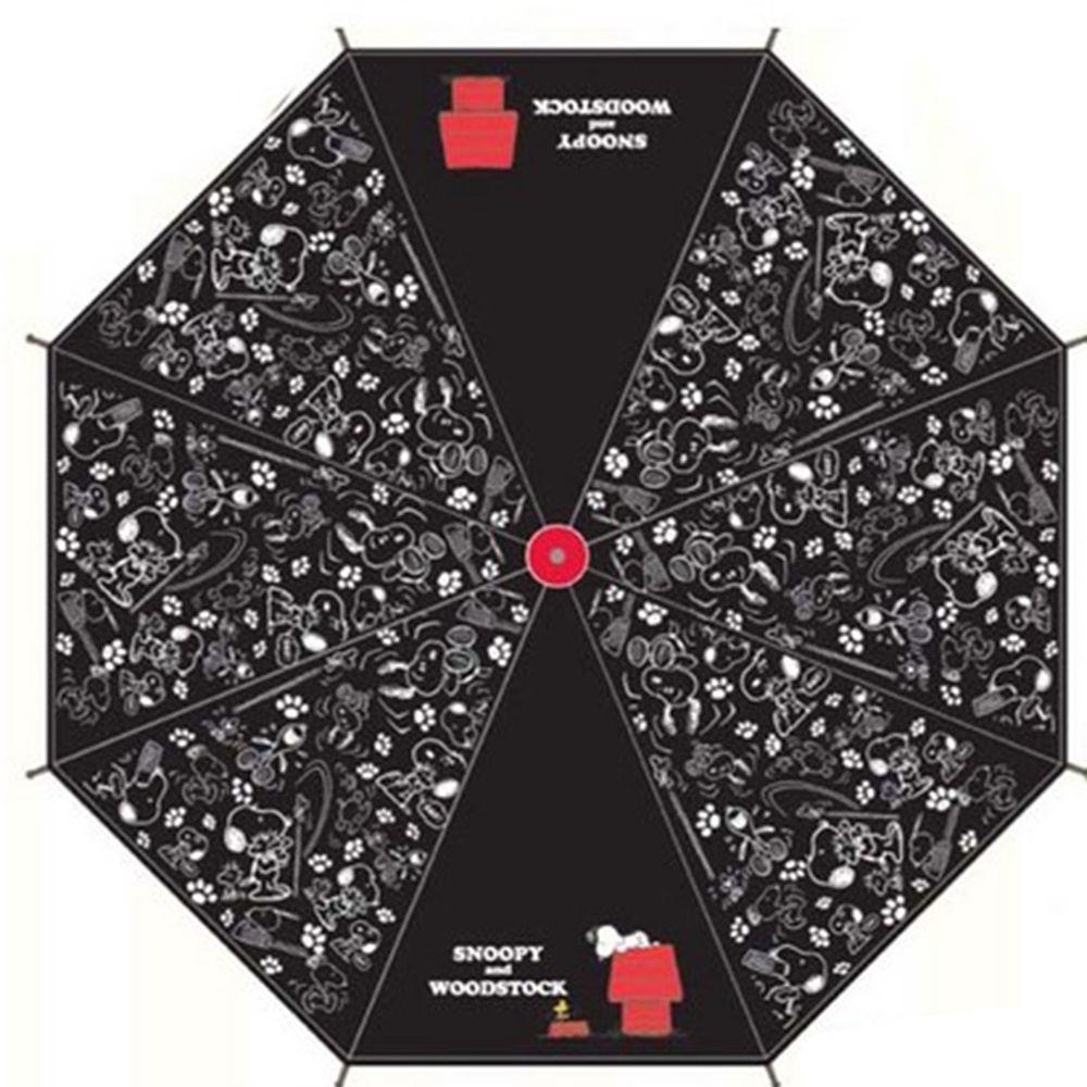 日本代購 - 卡通直傘-黑白史努比 (55cm(130cm以上))