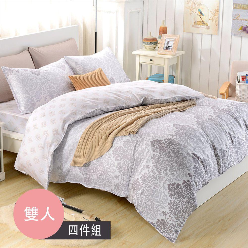 飛航模飾 - 裸睡天絲加高版床包組-摩卡(特大雙人床包兩用被四件組) (特大雙人6*7尺)