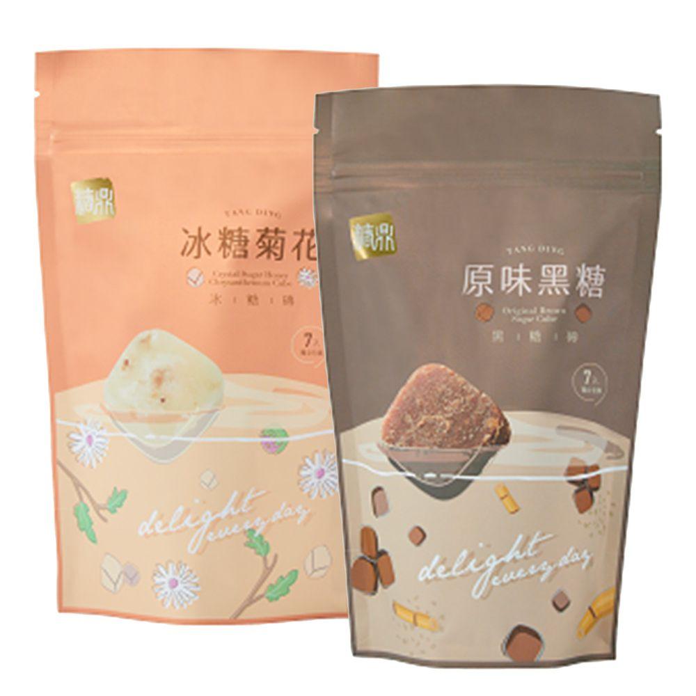 糖鼎黑糖磚 - 好孕媽咪組:冰糖菊花(小)+原味黑糖(小)-30g*7入/包*2