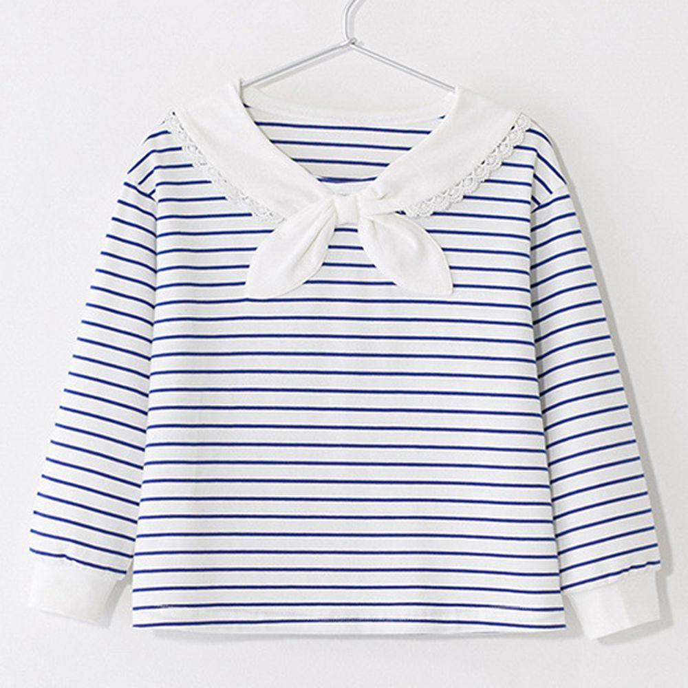 海軍領條紋上衣(微瑕疵)-淺藍