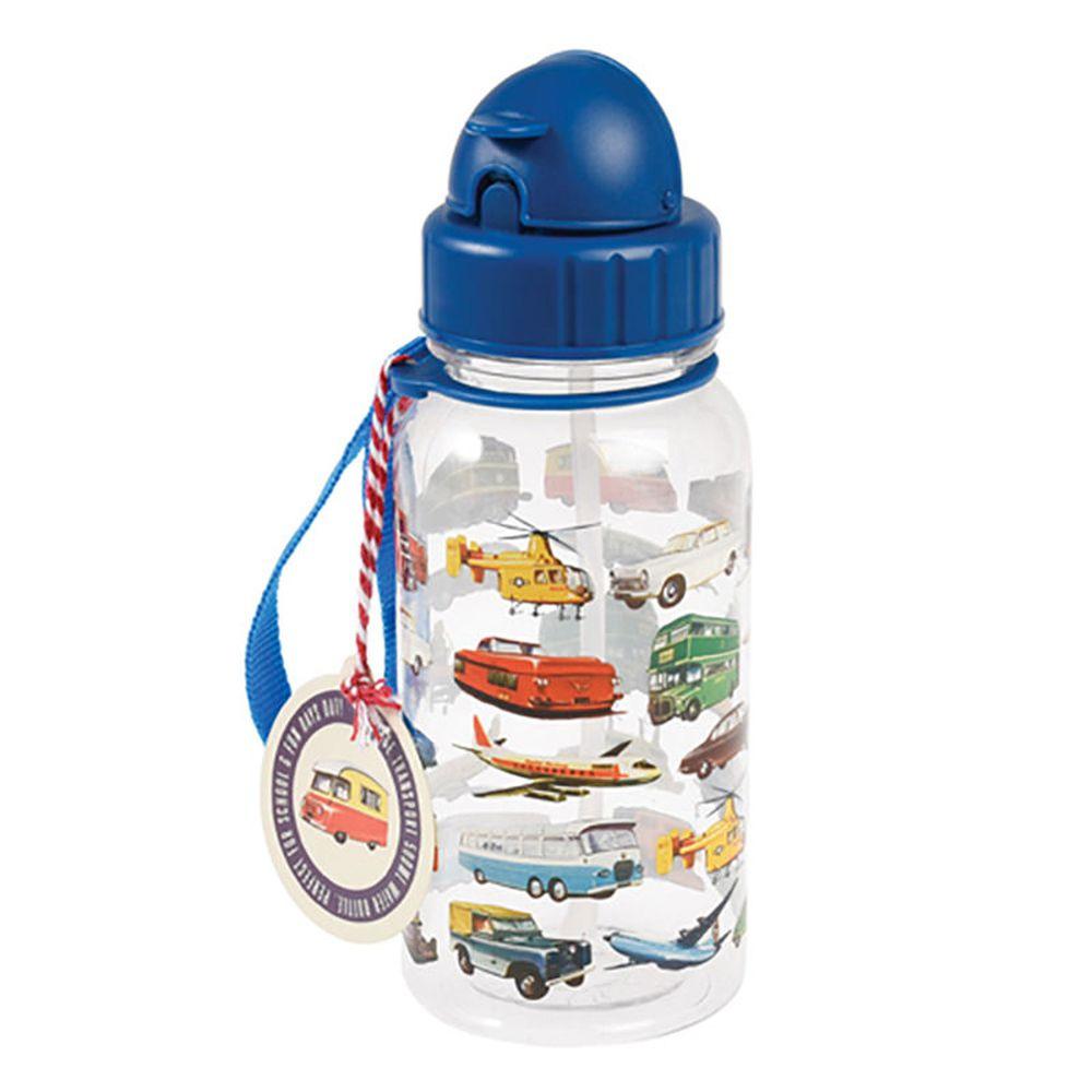 英國 Rex London - 兒童吸管水瓶-交通工具(500ML)