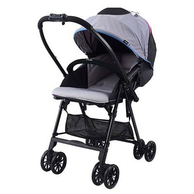 NEYO 超輕靚.雙向.秒收嬰幼兒手推車-冷豔灰-1個月~36個月(體重15kg以下)