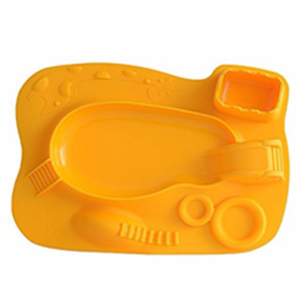 MARCUS&MARCUS - 動物樂園遊樂造型餐盤-黃色