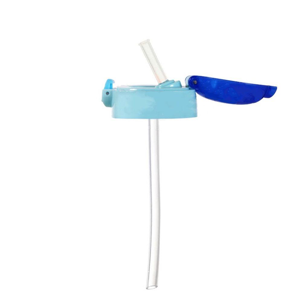 日本 SKATER - 兒童PET吸管水壺(480ml)-吸管上蓋-藍