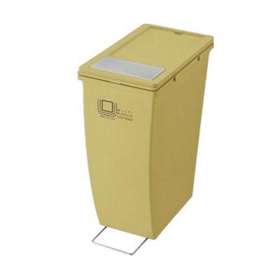 雙用造型垃圾桶-黃色-21L