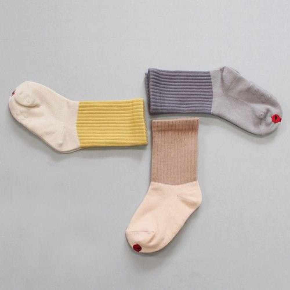 韓國 Kokacharm - 韓國製踝襪-三件組-Double socks