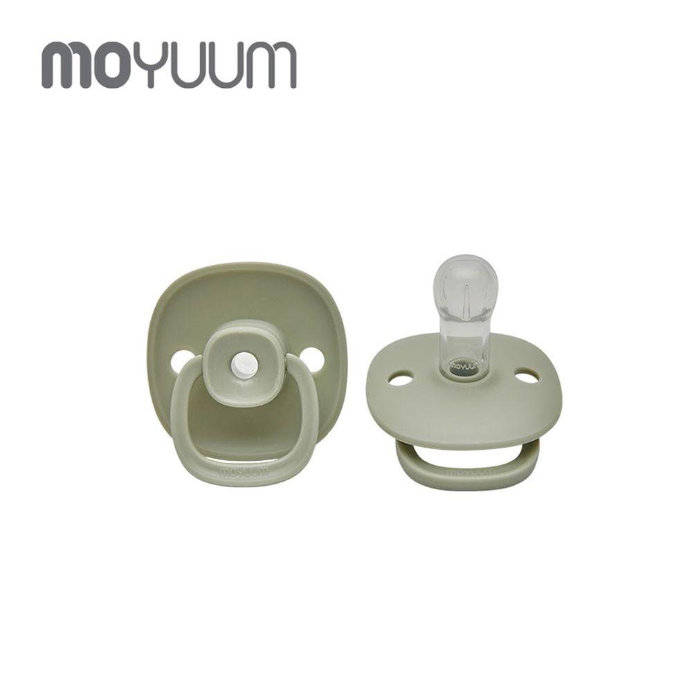 韓國 Moyuum - 母乳實感辛奇奶嘴-6M+-灰綠色