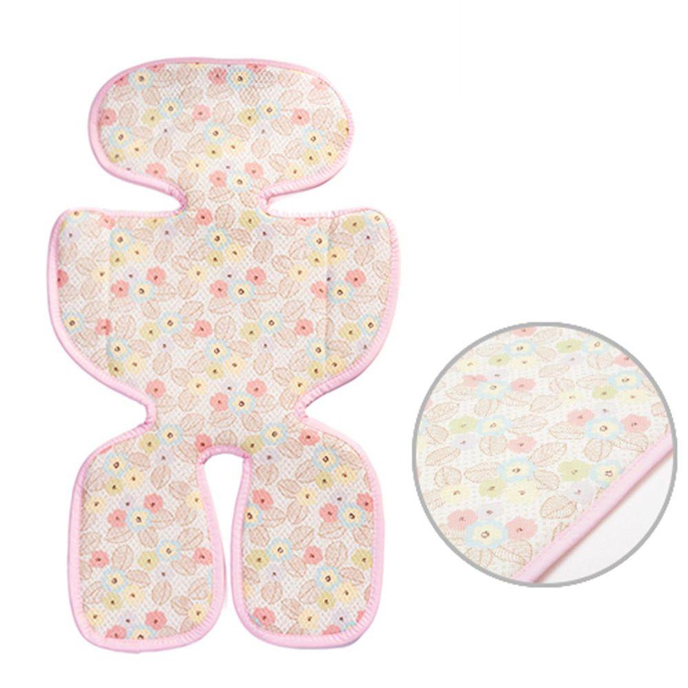 韓國 GIO Pillow - ICE SEAT 超透氣推車/汽座專用涼爽座墊-花色款-A型(褲型)-粉漾花朵