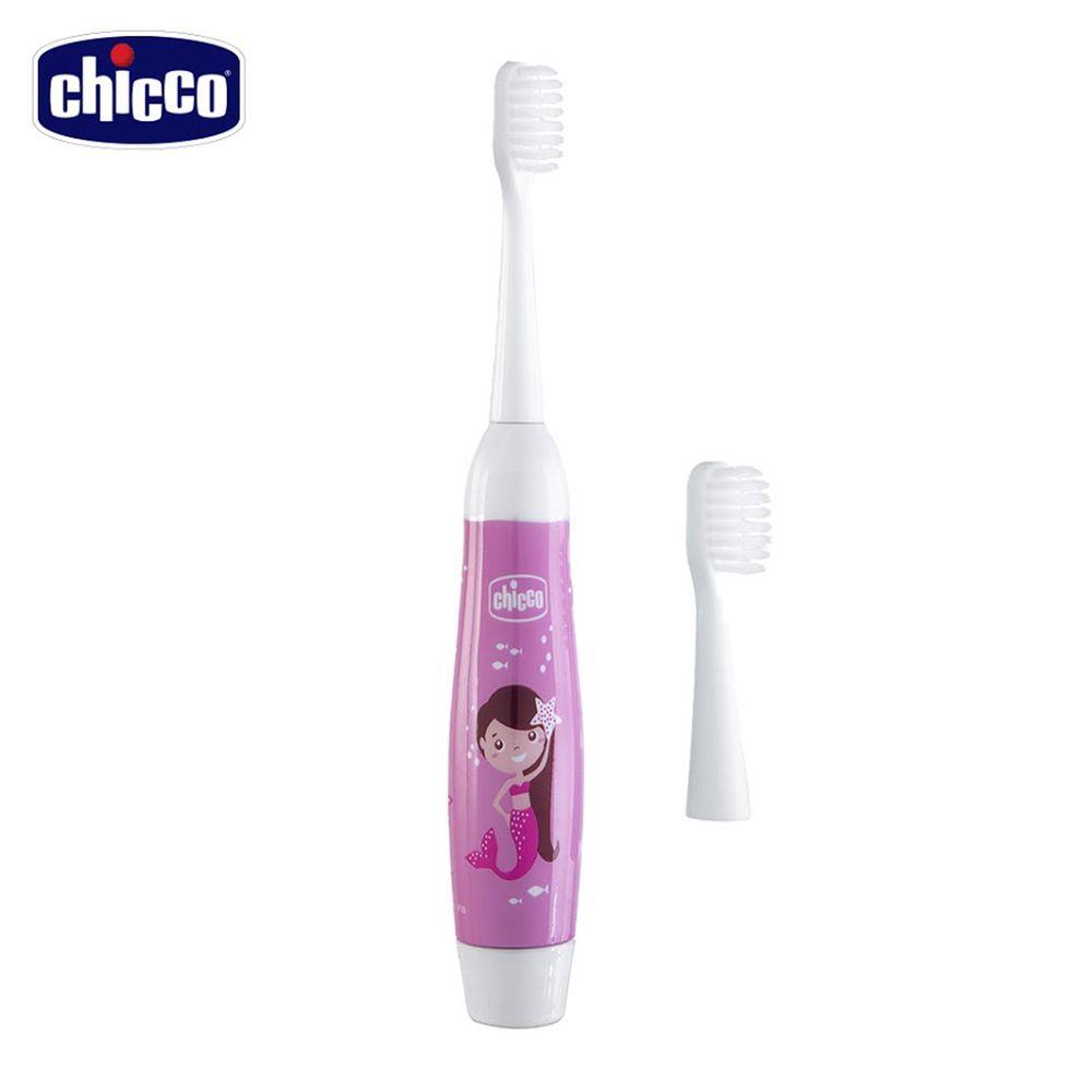 義大利 chicco - 美人魚電池式電動牙刷(3歲以上)