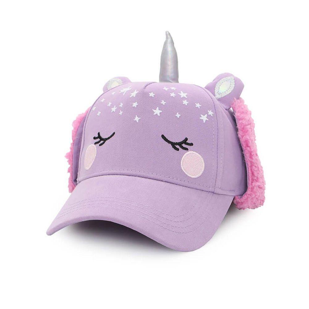 加拿大 flapjackkids - 3D造型遮耳棒球帽-獨角獸