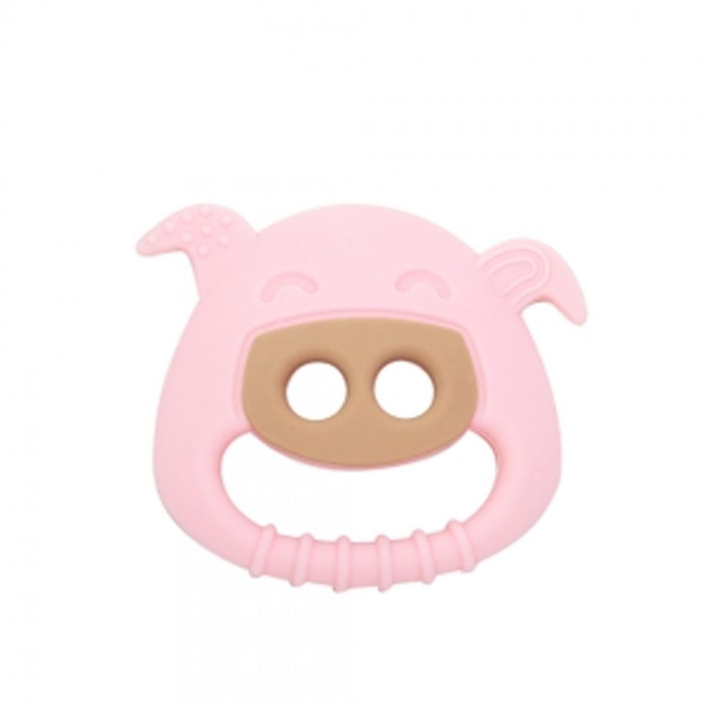 MARCUS&MARCUS - 動物樂園感官啟發固齒玩具-粉紅豬