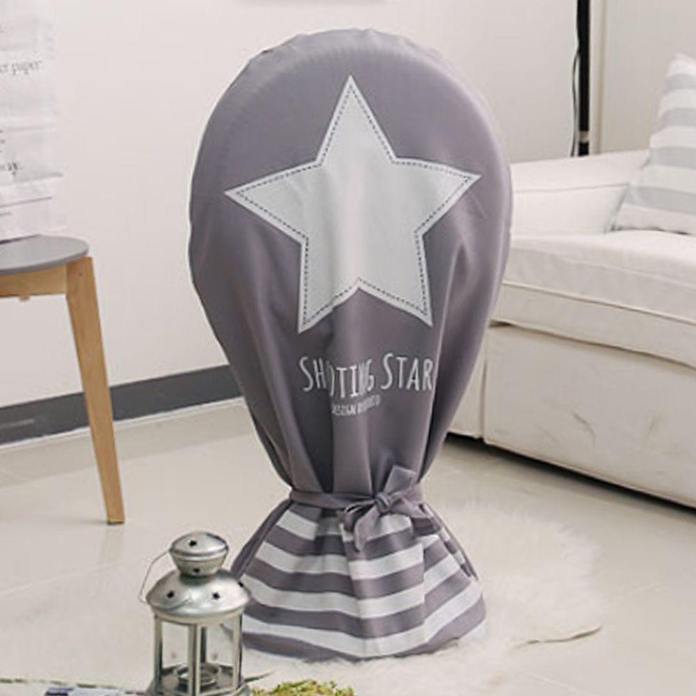 韓國 Bebe Deco - 可水洗電風扇收納套(直立型)-灰色星星 (90*59cm)