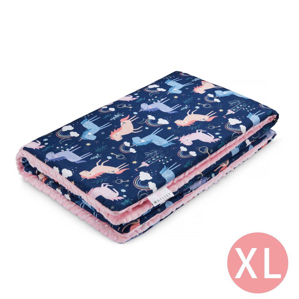 maylily - 竹纖維魔術顆粒輕柔毯(厚,有內胎)-夢幻獨角獸 (XL)-150x110cm