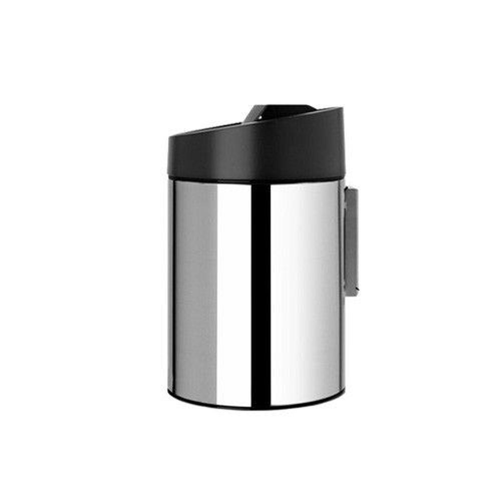 荷蘭 Brabantia - 滑蓋式亮面垃圾桶-滑蓋式(黑蓋)-5L