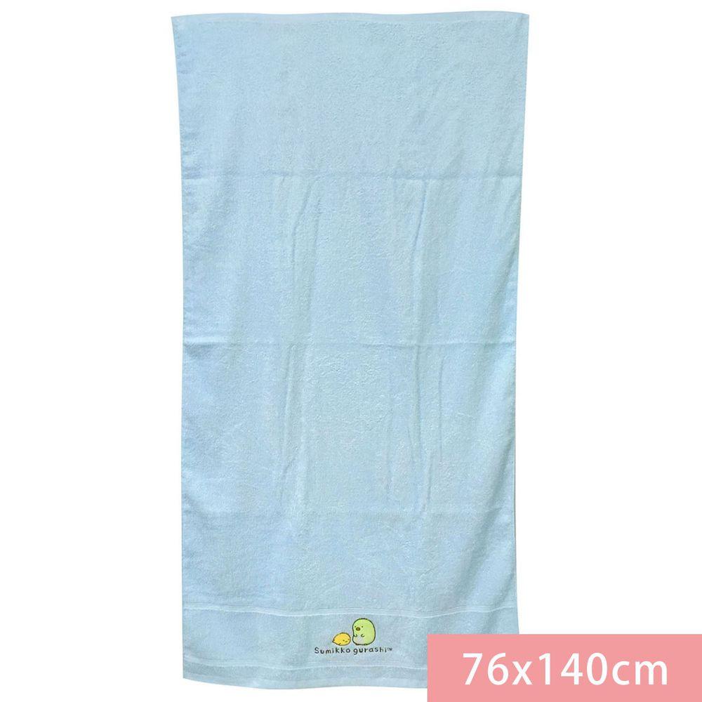 角落小夥伴 - 角落小夥伴鬆捻紗繡花浴巾-藍 (76*140cm)