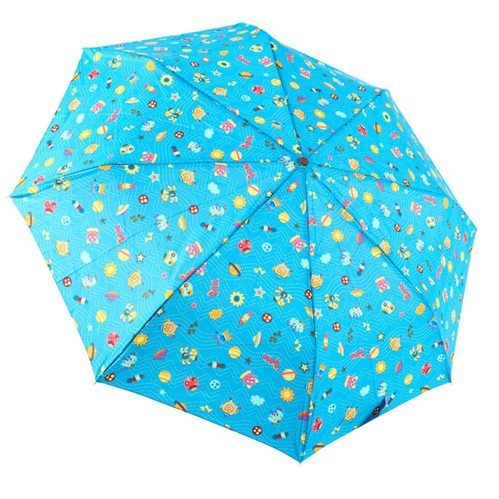 Rainstory - 抗UV雙人自動傘-怪獸星球-藍