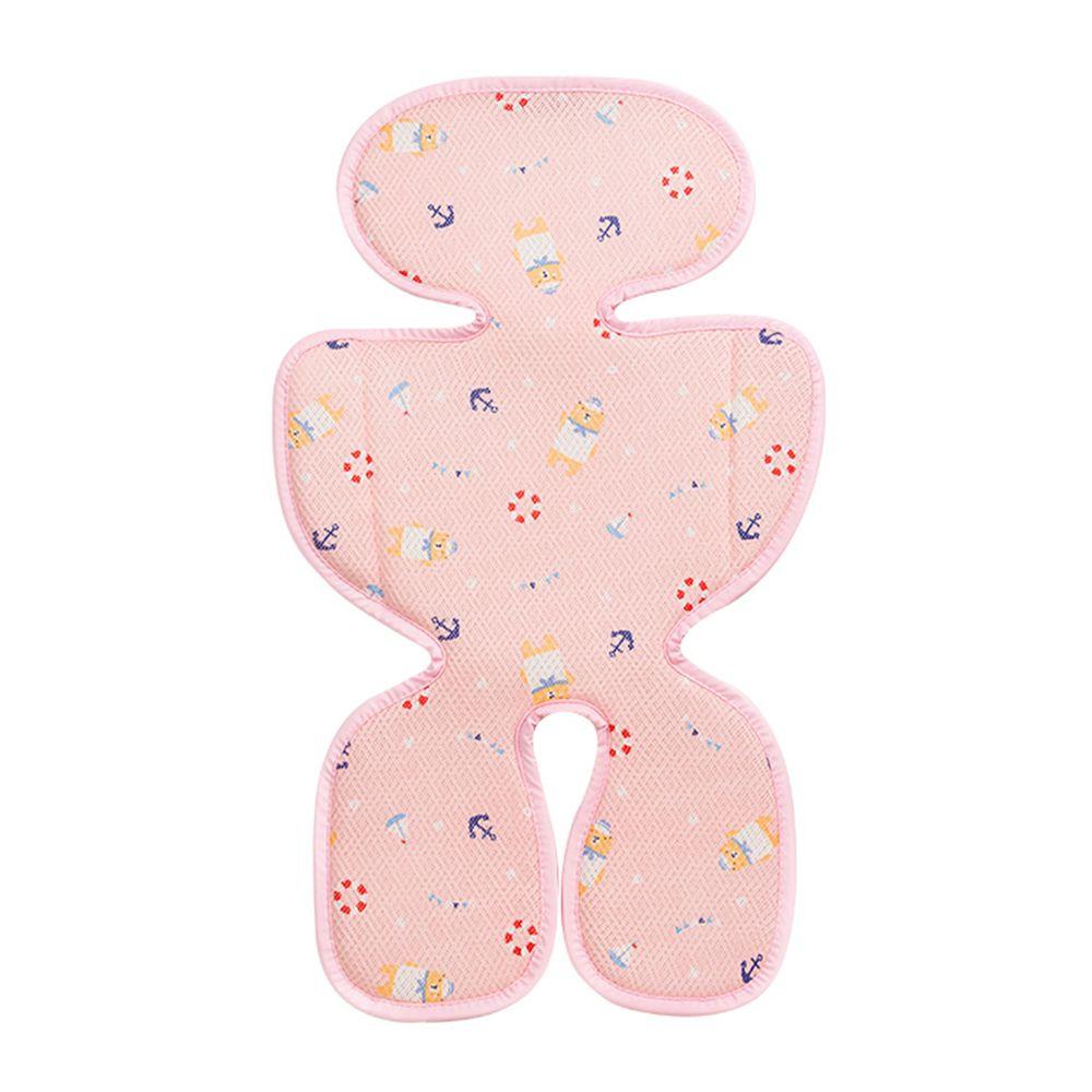 韓國 GIO Pillow - ICE SEAT 超透氣推車/汽座專用涼爽座墊-花色款-A型(褲型)-水手熊粉